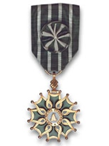 News_Insignia of Officer of the Order of Arts and Letters_L'Ordre Des Arts Officier_medal