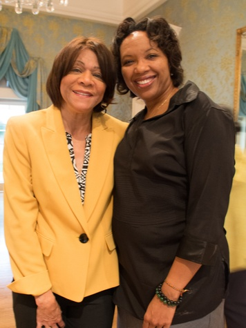 14-5 Beverly Harmon, left, and Aundrea Matthews at the Community Artists' Collective's luncheon September 2014