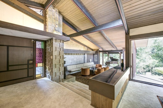 Mid century modern home commissioned by billionaire is 4 for Mid century modern houston