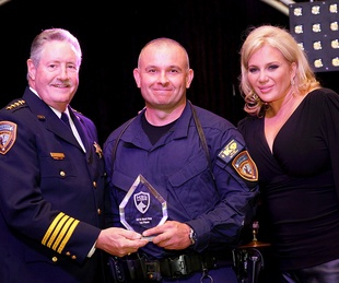 K9s4COPS Gala Sheriff Ron Hickman, Sgt. Chris Moore and Kristi Schiller