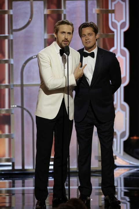 Ryan Gosling and Brad Pitt at Golden Globe Awards