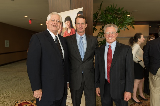 Howard Lederer, from left, David Doherty and Bill Wallace at the CHRISTUS Foundation for HealthCare spring luncheon April 2015