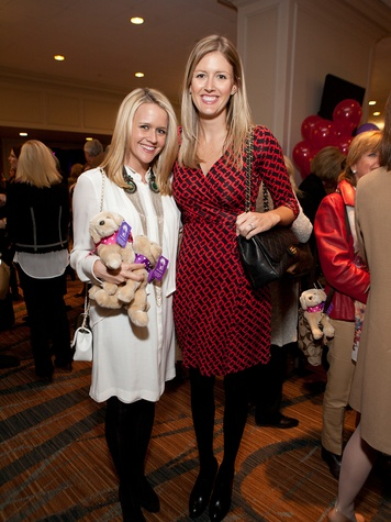 Lyndsey Zorich, left, and Abigail Coleman at Bo's Place luncheon February 2014