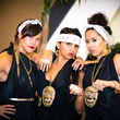 10 Kathryn Fletcher, from left, Diana Ortega and Lisa Renee Pena at the Bering Omega Toga Party July 2014