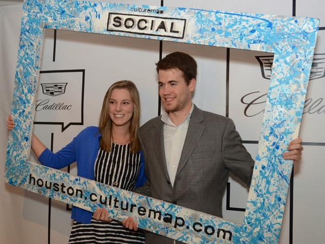 3 Paige Delouche and Ben Clemenceau at the CultureMap Social at Gremillion and Co. Fine Art March 2015
