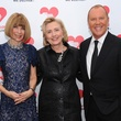 Anna Wintour, from left, Hillary Rodham Clinton and Michael Kors