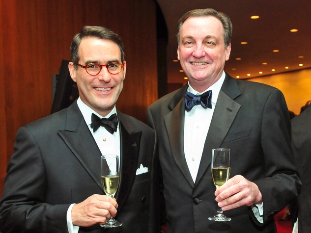 Steve Mach, left, and Ralph Burch at the Houston Symphony Wine Dinner March 2014