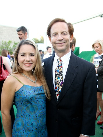 Dr. Penelope Marks and Lester Marks at the Bill Viola Aurora Picture Show Award party October 2013