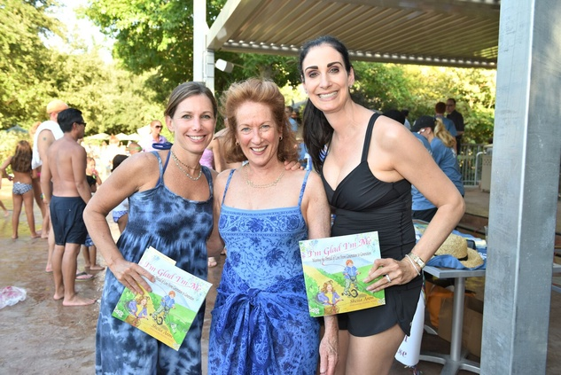News, Shelby, Thread Alliance, Blue Moon Party, July 2015, Leslie Lerner, Sheila Aron , Stephanie Aron Weiss