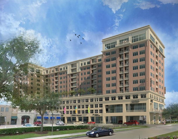 Rendering of Palazzi development at Uptown Park July 2014