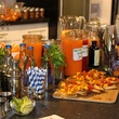 Mixers and appetizers at the Define Body & Mind cocktail party July 2014