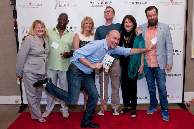 24 Susan Fowler, from left, Eric Lee, Syd Moen, Charlie Hardwick,  Jeannie Maddox, Tra Slaughter and Nicola Parente Seven selected artists benefitting Bayou City Art Festival July 2014