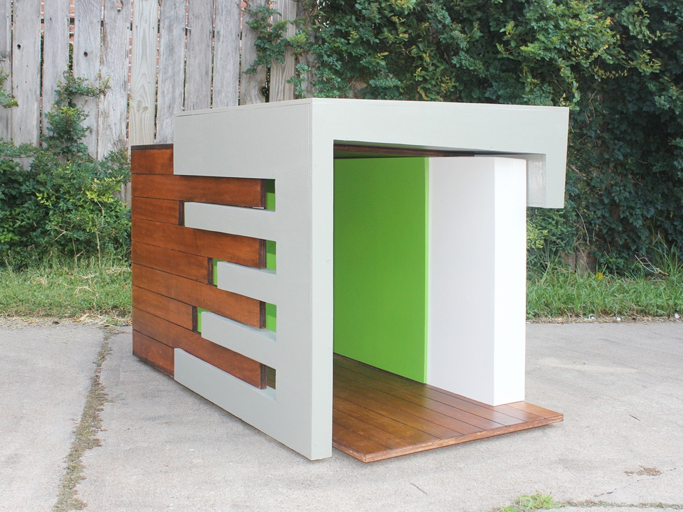 The coolest dog houses in the world big name architects for Modern dog house designs