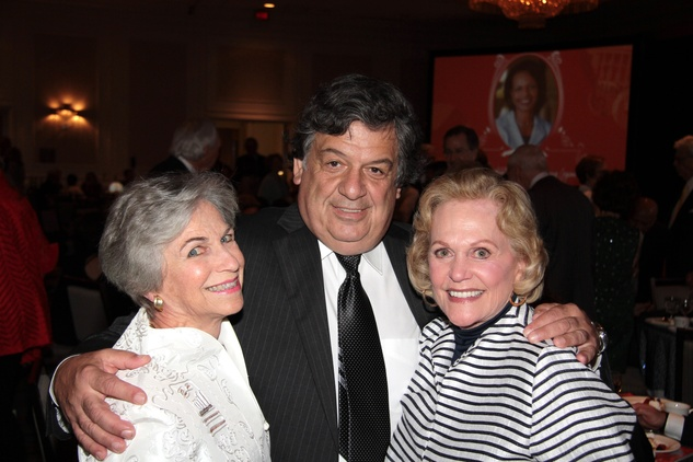 Anne Mendelsohn, from left, Dr.Christopher Logothetis and Nancy Ames at the Houston Living Legend fundraiser dinner May 2014