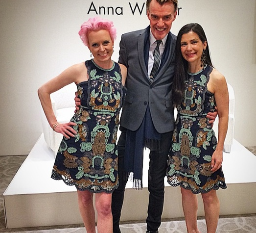Vivian Wise, Ken Downing, Cynthia Petrello at Neiman Marcus Anna Wintour luncheon
