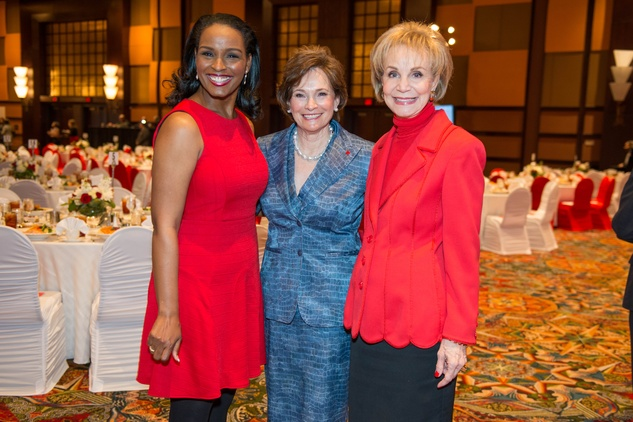 News, Shelby, Red Cross Luncheon, Feb. 2015, Winell Herron, Bobbie Nau, Leisa Holland Nelson