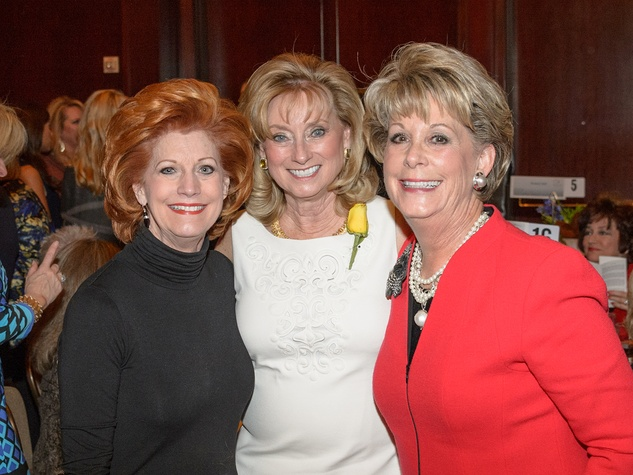 Karen Darnell, from left, Anne Richardson and Paula Robinson at the Trailblazer Awards Luncheon February 2014