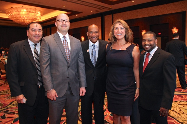 16 Massey Villarreal, from left, Tony Valadez, Sidney Evans II, Frances Castaneda-Dyess and Kelton Charles at the 1 Million Dollars lunch for Good February 2015