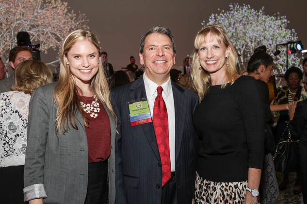 Kristin Garcia Blomquist, from left, with Roland and Karen Garcia  at the Mayor's Hispanic Heritage Awards event October 2014