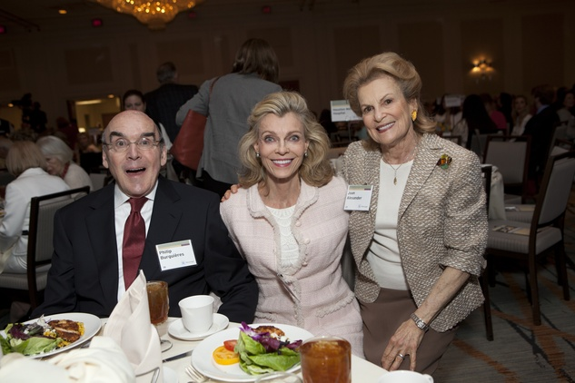 0256 Philip and Alice Burguières, from left, with Joan Alexander at the Menninger Luncheon May 2014