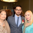 Mariam Issa, from left, Wilmer Valderrama and Carloyn Farb at the South Asian Chamber Gala February 2014