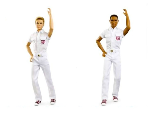 Texas A&M Yell Leaders Ken dolls September 2013