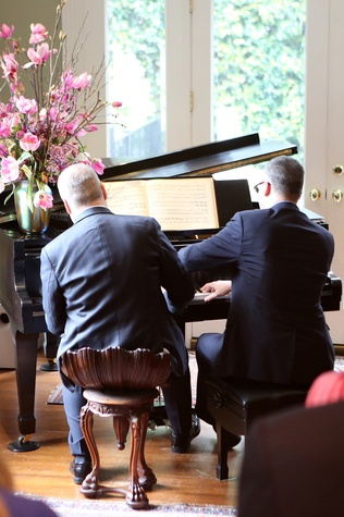 203 Patrick Summers, left, and NAME at the Houston Grand Opera Tea March 2015