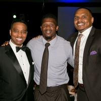 HAWC Gala, May 2015, Khambrell Marshall, Andre Johnson, Chester Pitts