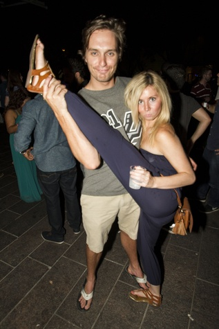 Casey Horn and Shayne Dalsen at the MFAH Mixed Media Party June 2014