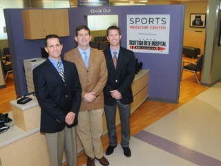 Dr. Philip Wilson, Dr. Henry Ellis and Dr. Shane Miller at TSRHC