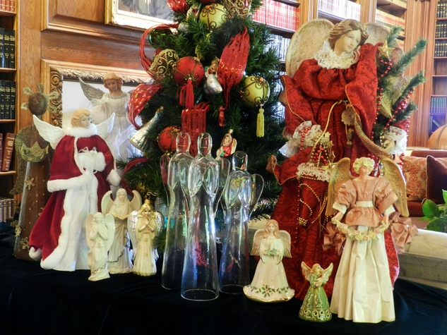 Angels at DeGolyer Mansion at Holiday at the Arboretum