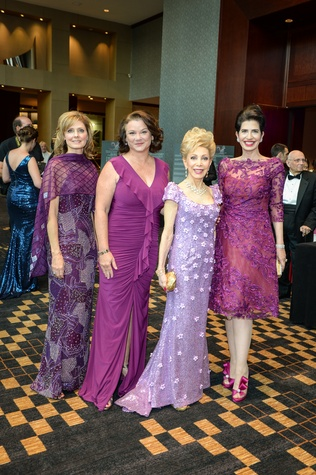 267 Thecla Harper, from left, Tara Wuthrich, Margaret Alkek Williams and Dr. Kelli Cohen Fein at the Virtuosi of Houston Gala May 2014