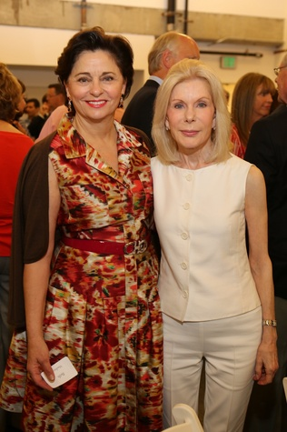 5380 Beth Madison, left, and Frances Marzio at the Alley Opening Night dinner May 2014