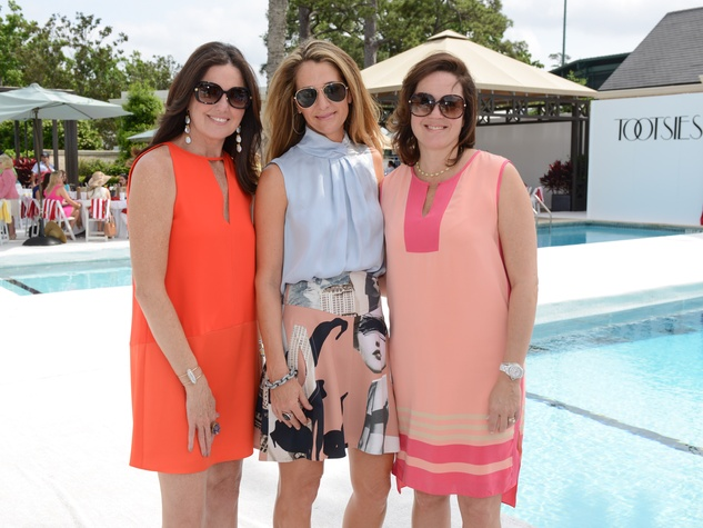 12 April Abello, from left, Mimi Marix and Mary Eliza Shaper at the River Oaks Tennis Tournament luncheon April 2015