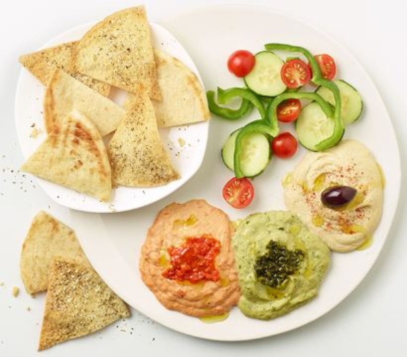 Zoes Kitchen hummus trio