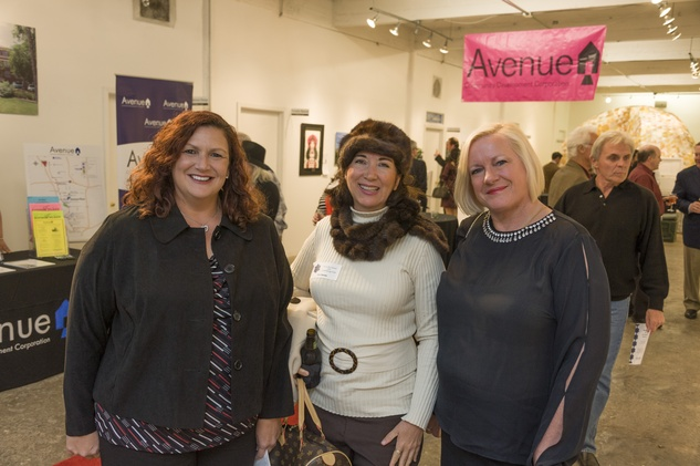Ana Ramos, from left, Lorena Morales and Tracy Meyer at Art on the Avenue November 2013