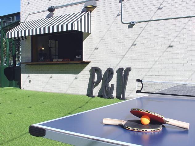 Parlor U0026 Yard Bar Dunlap ATX West Sixth February 2016 Outdoor Patio Bar  Ping Pong Table