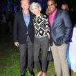 Jonathon Glus, from left, Judy Nyquist and Alton LaDay at HAA's Under The Blue Trees Pop-Up Party October 2013