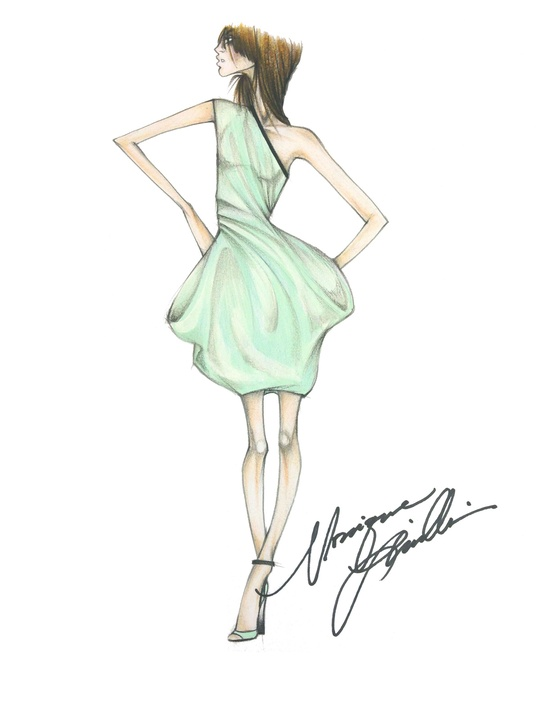 Fashion Week spring 2015 sketch Sept. 2014 Monique Lhuillier