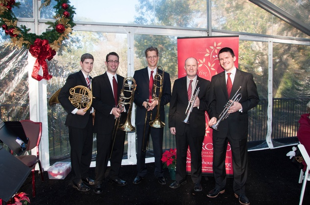 19 Gavin Reed, from left, Ilan Morgenstern, Thomas Hulten, Jason Adams and George Chase at the ROCO Yuletide Concert at Bayou Bend December 2014