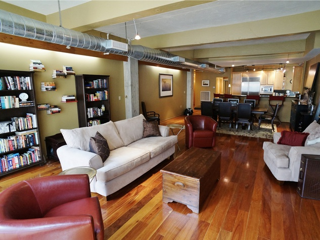 On the Market No. 902 Capitol Lofts July 2014 living room