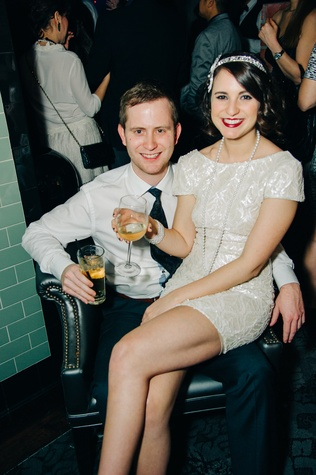 Evan Roberts and Victoria Chévez at New Year's Eve at Local Pour January 2015