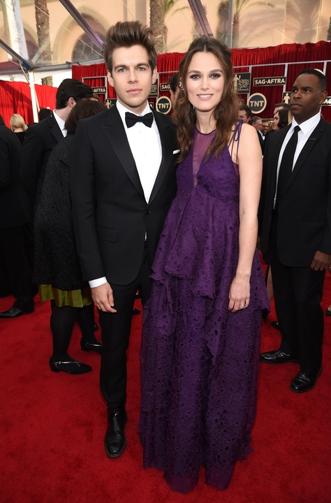 Keira Knightly and James Righton at Screen Actors Guild Awards