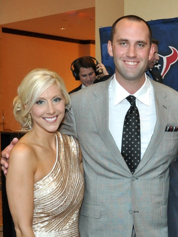 Matt Schaub's foundation dinner April 2013 Laurie Schaub, Matt Schaub