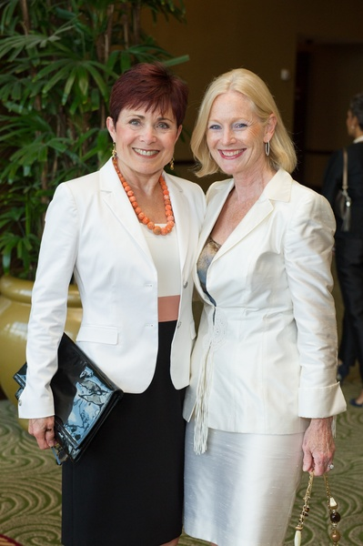 11 Jennifer Huber, left,  and Trish Morilleat the Holocaust Museum Moral Courage Award dinner June 2014