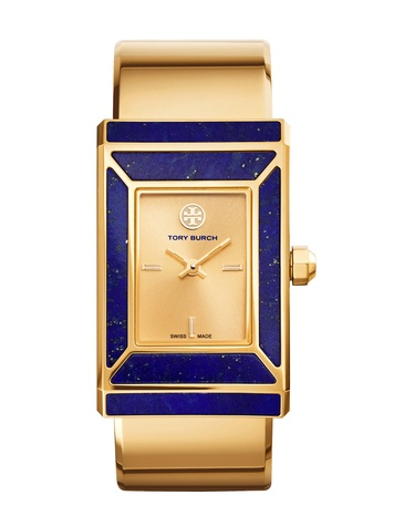 Tory Burch watch collection October 2014 The Robinson Watch Gold Tone-Lapis