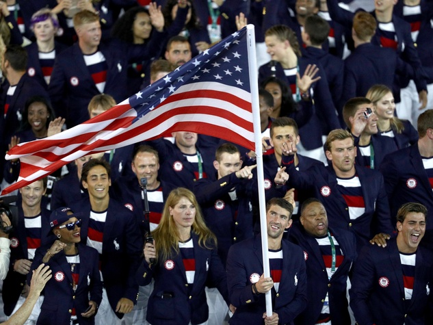 Team USA in Ralph Lauren at Rio Olympics Opening Ceremony