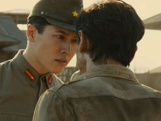 Takamasa Ishihara and Jack O'Connell in Unbroken