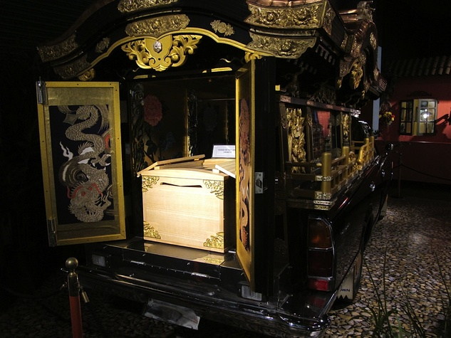10 - Katie Oxford Halloween October 2014 1972 Japanese Ceremonial Hearse at the National Museum of Funeral History.