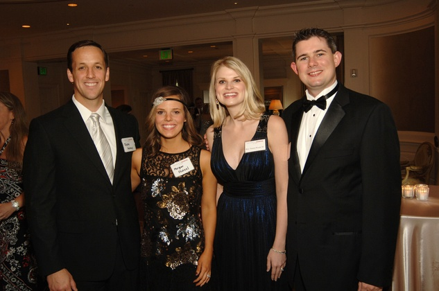101 Blake and Morgan Hotzel, from left, and Tamara and Mike Woods at the UH Law Center Gala April 2014